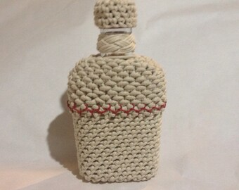 Rope Covered Knot Tied Bottle Wrap