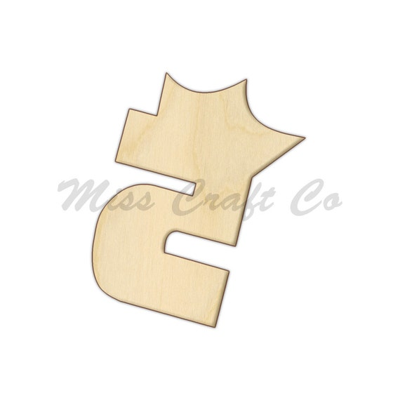 Princess crown number 5 wood craft shape unfinished wood diy for Small wooden numbers craft