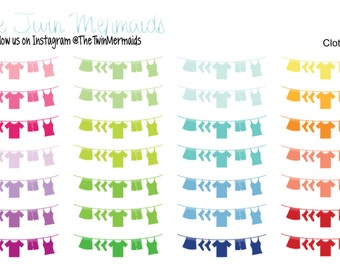 Clothesline Planner Stickers