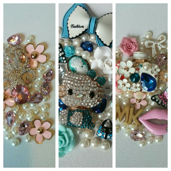 DIY 3D Bling Cell Phone Case Deco Kit Pick your own choice