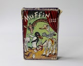Vintage Muffin the Mule card game. In origional box with 44 complete cards and origional instructions. Reto card childrens card game.