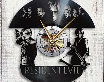 Resident Evil Vinyl LP Record Wall Clock Gift Idea