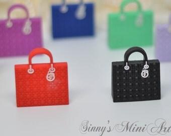 Miniature Luxury handbag/ Doll purse/ Barbie purse/ Barbie handbag/ Handbags for Dolls/ Handbag for BlYthe/ BJD purse OMD-C10