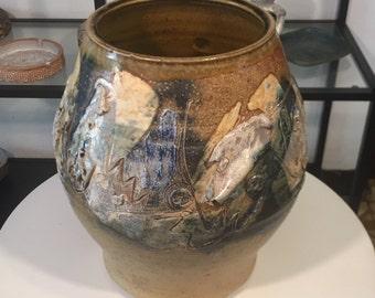Rare Brutalist Vase by Richard Leach – Mid Century Vintage - 1963