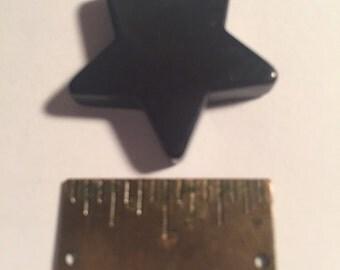 1 inch Vintage Bakelite Blue/Black  Star