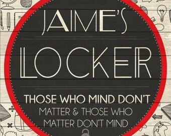 Custom Locker Sign Digital Download