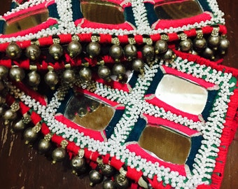 vintage banjara waist belts mirror work can be extended with any strong and made to wear according to your waist