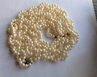 36 inch set of cultured pearls vintage antique # 887