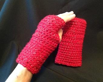 Hand crocheted fingerless gloves/wrist warmers