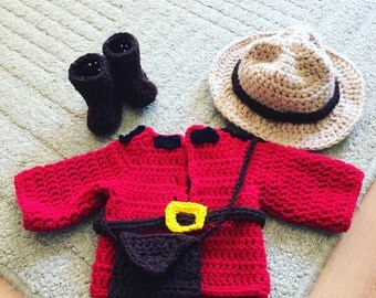 Mountie Newborn outfit