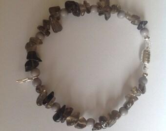Smokey quartz bracelet with magnetic clasp
