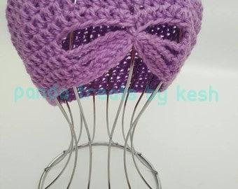 Butterfly window crochet hat