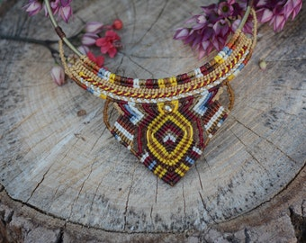 Macrame Bohemian style Necklace