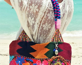 Embroidered Boho/ shoulder bag/ Funky/ Stylish