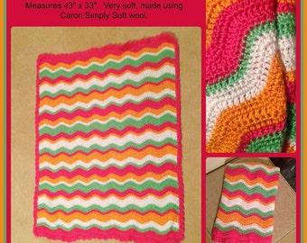 Crocheted Ripple Afghan