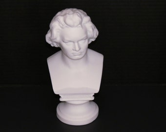 ON SALE! Unique Parian Ware Ludwig van Beethoven Bust