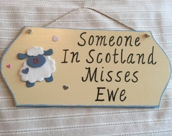 Personalised City/Town Sheep Wall Hanging