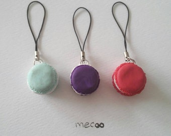 Macaron charms - plum / red / mint