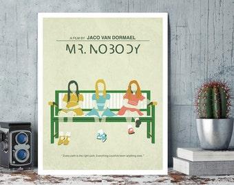 Mr. Nobody, Jaco Van Dormael, Diane Kruger, Sarah Polley, Linh Dan Pham, Minimal Movie Poster.