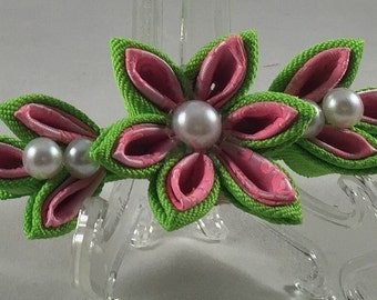 Kanzashi flower hairclip