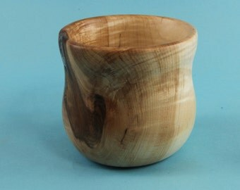 Maple cup green turned from a knot
