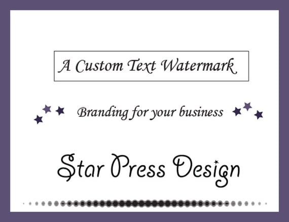 order paper with watermark Invitations & paper wedding decorations  logo design, custom order logo design, custom watermark and logo design,.