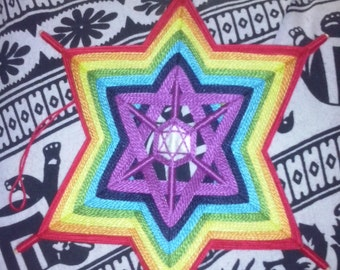Mandala star 30 cm wool fabric