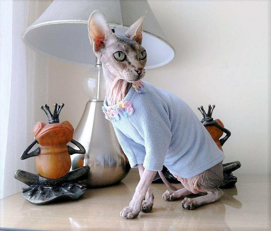 cat clothes cat pajamas cat shirt cat sweater pet sweater