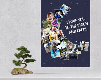 "Personalised Photo Poster ""I love you to the moon and back"""