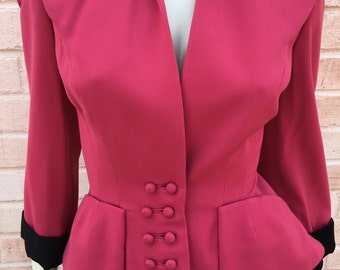 1940's Double Breasted Fuschia Jacket