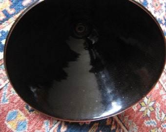 Hand thrown Temoku bowl