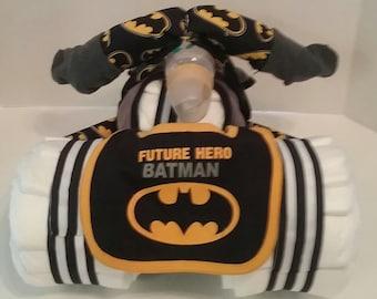 Diaper Tricycle Batman Cake
