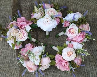 Custom Bridesmaid Bouquets / wedding flowers / wedding bouquet / silk wedding flowers / keepsake bouquet
