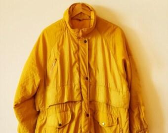 SALE 90s yellow winter parka