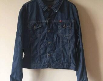 Mustang 90s Dark Wash Blue Denim Jacket