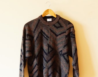 90s Hipster Triangles Cozy Oversized Sweater
