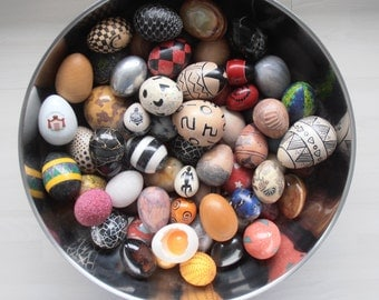 Egg collection of many different types and designs