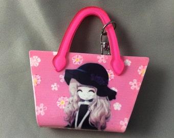 Pink Purse Keychain