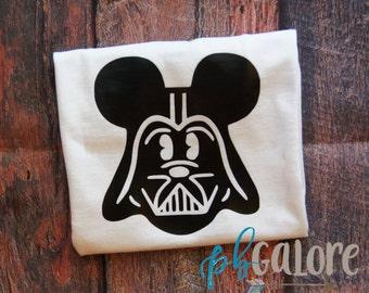 Ladies Vader Mickey | Disney Shirt | Mickey Mouse Star Wars | Star Wars Shirt | Darth Vader | Disney Star Wars |  Adult Tee