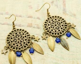 Kit / diy beads Czech stars earrings