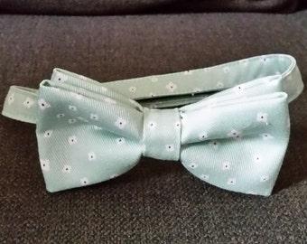 Mint green bow tie