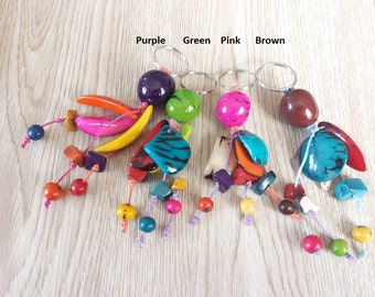 Craft Seed Key Chain. Vibrant Colors