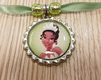 10 Princess Tiana Necklaces Party Favors.