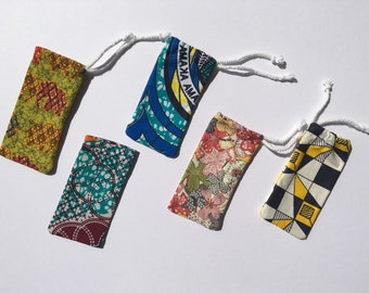 Africa print cotton sunglasses case