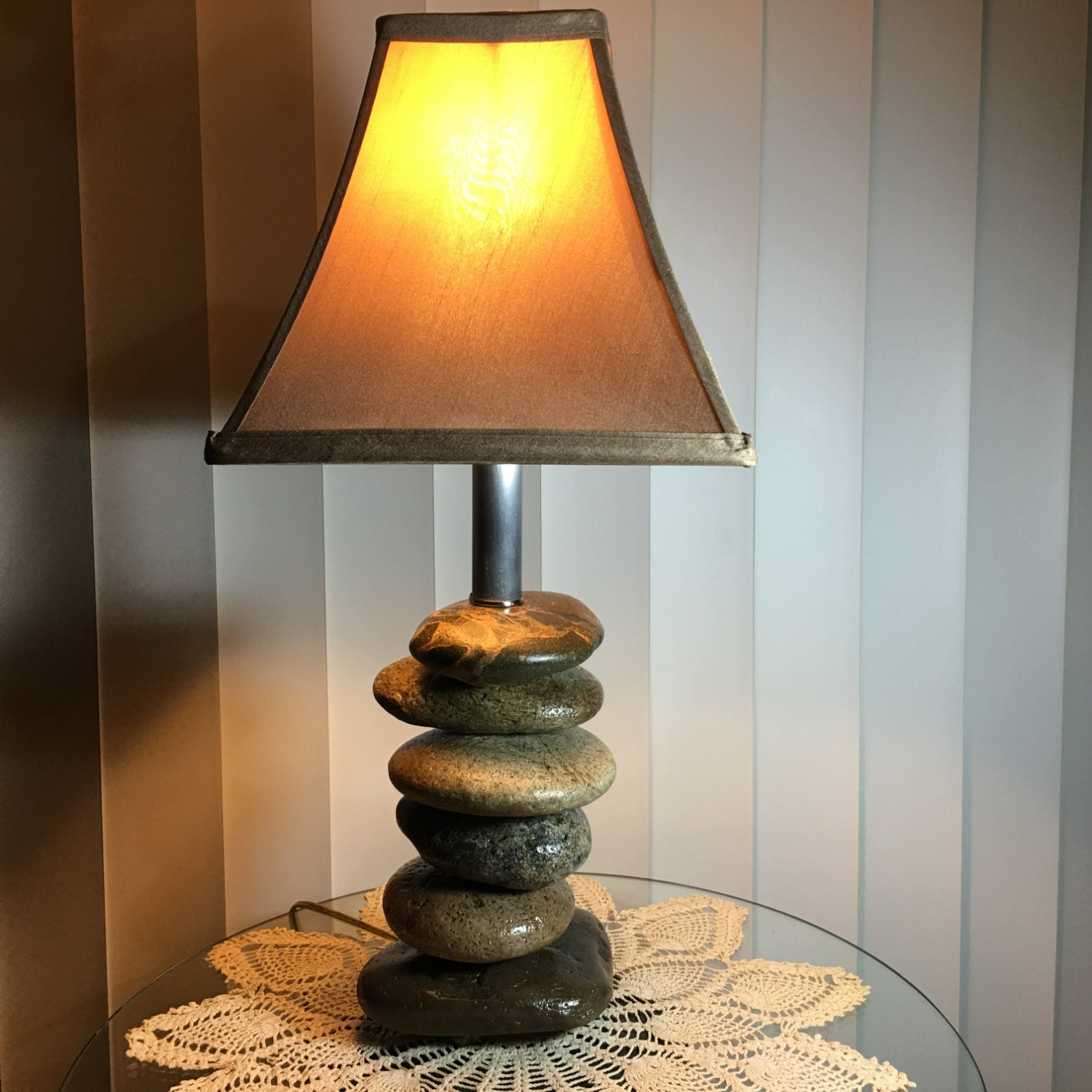 Rock table lamps rock table lamprock lamp by for Rock lamp