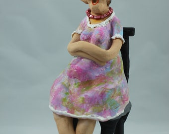 Ceramic figurine - waiting for Walter...