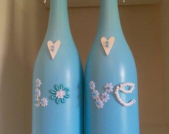 Reclaimed wine botlles