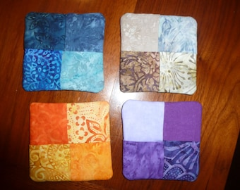 set of fabric coasters