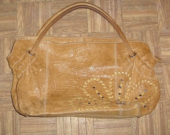 Genuine Leather Purse made in Italy zip top pocketbook