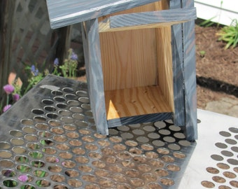 Upcycled wren, titmouse and chickadee house, nesting box